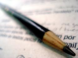 engelse brief met pen